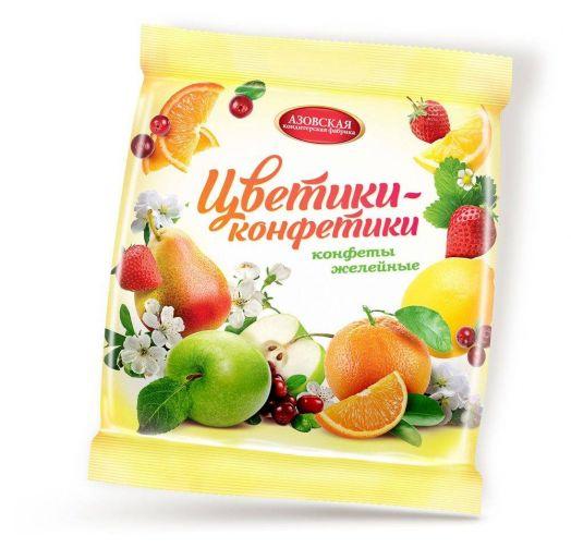 Конфеты желейные Цветики-конфетики 250г Азов