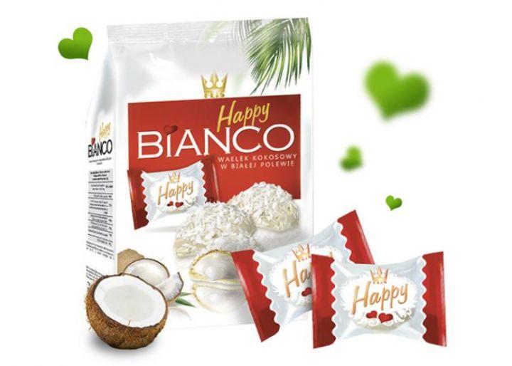 Набор шок. Happy Bianco Pink вафельн.глазиров.кокос.100г