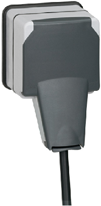 90465 Plexo Розетка 2к+З с крышкой IP66 Legrand