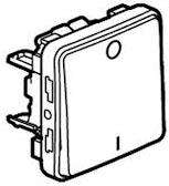 70727 Plexo Выключатель двухполюсный, белый Legrand