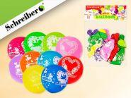 Набор воздушных шариков, 10 штук в упаковке. Цвета шариков ассорти. Вес упаковки 3 грамма (арт. S 343)