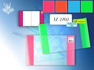 Обложка для дневников и тетрадей, ПВХ (215х350 мм). С флуоресцентными карманами (арт. TZ 2701)