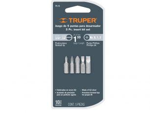 Набор бит TRUPER повышенной прочности P5-15, сталь S2 17780