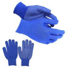 Нейлоновые перчатки с ПВХ точками, 12 пар, Цвет: Синий