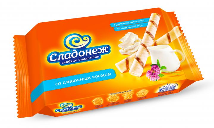 Вафельные трубочки Сладонеж со слив.вкусом 175г