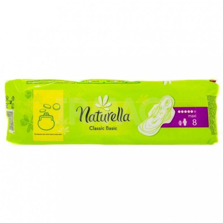 Прокладки Натурелла Классик Basic Maxi с крыл. аром-е 8шт *