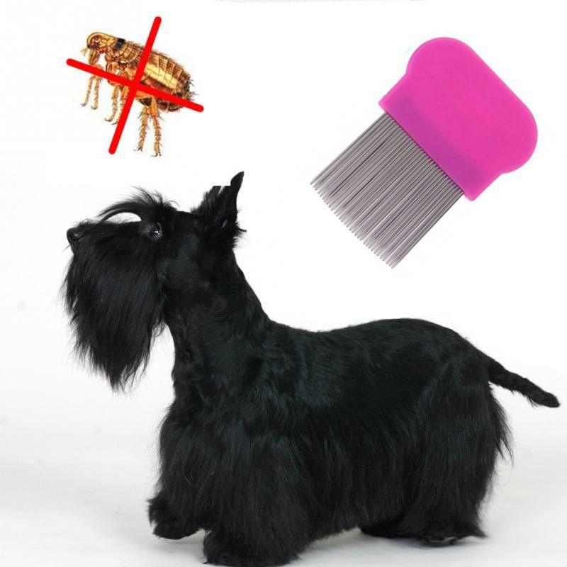 Гребешок Для Вычесывания Блох У Домашних Животных, 8х6 См, Цвет Розовый
