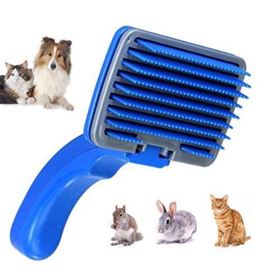 Самоочищающаяся Щётка Для Животных Self-Cleaning, Размер 12х7,5 См