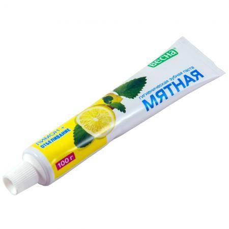 Зуб. паста Мятная 100г лимон+отбеливание в футл.
