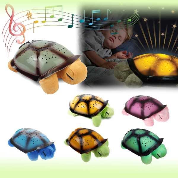 """Ночник-проектор звездного неба """"Черепаха"""" с музыкой"""