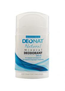 "Дезодорант-Кристалл ""ДеоНат"" чистый, стик плоский, вывинчивающийся (twist-up), 100 гр арт.209"