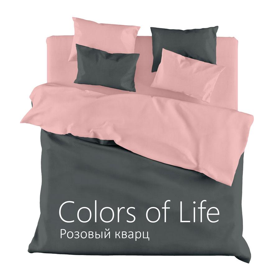 """Однотонное постельное белье """"Розовый кварц"""", сатин"""
