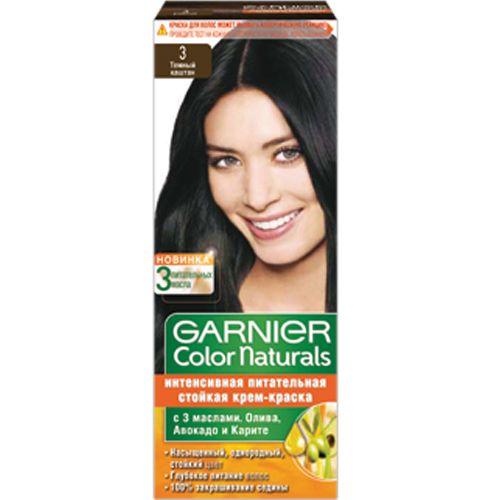 Краска д/волос Garnier Color naturals 3 Темный каштан