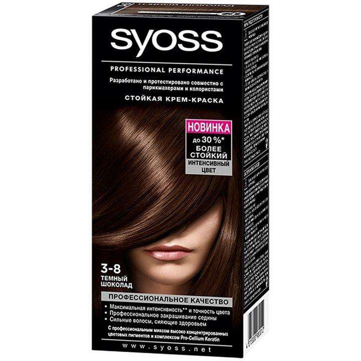 Краска д/волос Syoss Color 3-8 Темный шоколад