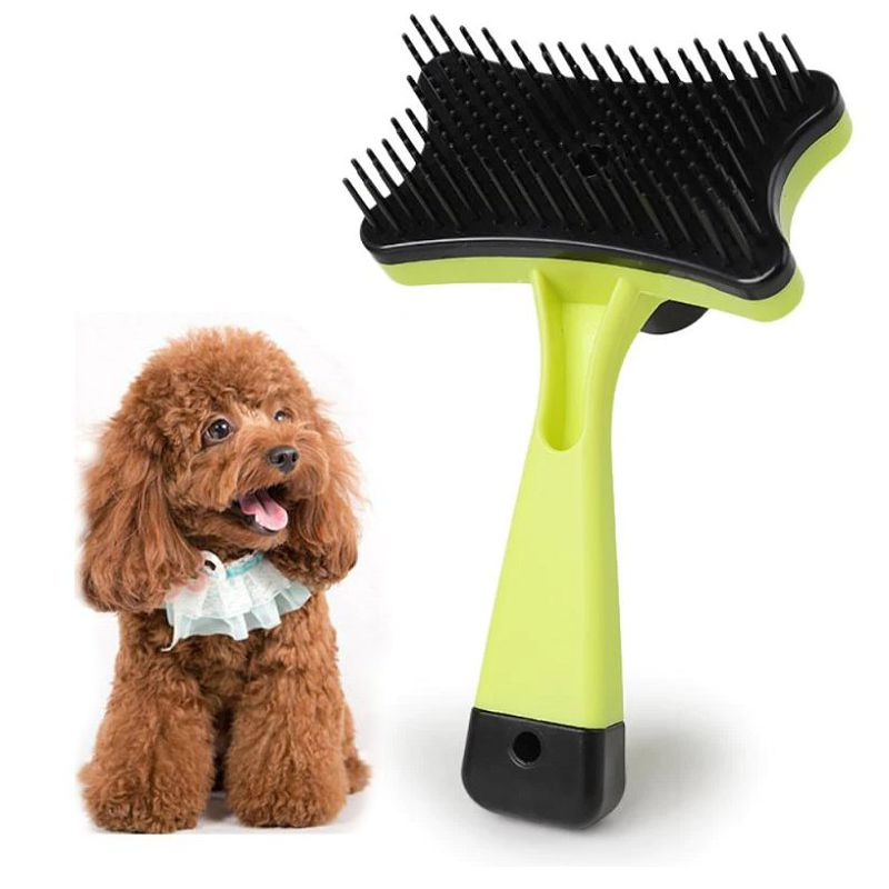 Самоочищающаяся щётка для животных Pet Grooming, цвет желтый