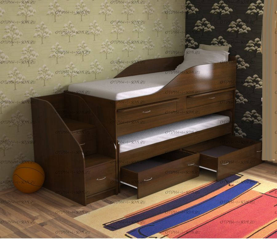 Кровать двухъярусная трансформер Дуэт-8