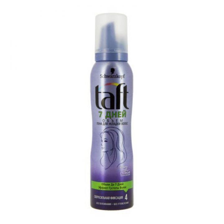 Пена д/волос Taft 150мл 7 дней объем