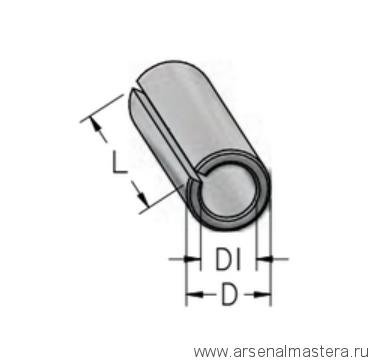 Втулка цанга переходная с D8 на d6 L25 тип B WPW T080060T