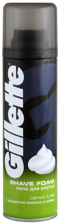 Пена д/бритья Gillette 200мл  с ароматом лимона и лайма
