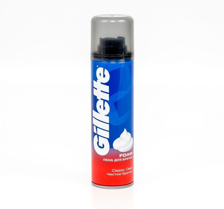 Пена д/бритья Gillette 200мл Classic Clean(чистое бритье)