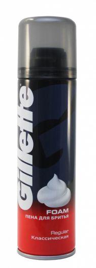 Пена д/бритья Gillette 200мл Regular