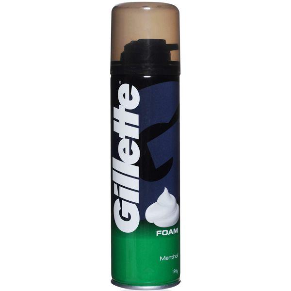 Пена д/бритья Gillette 200мл Menthol (с аром. ментола)