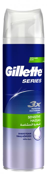 Пена д/бритья Gillette Series чувствительная кожа 250мл *