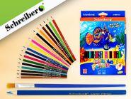 Набор цветных карандашей акварельных С КИСТОЧКОЙ, 18 цв. (арт. S 0059-18)
