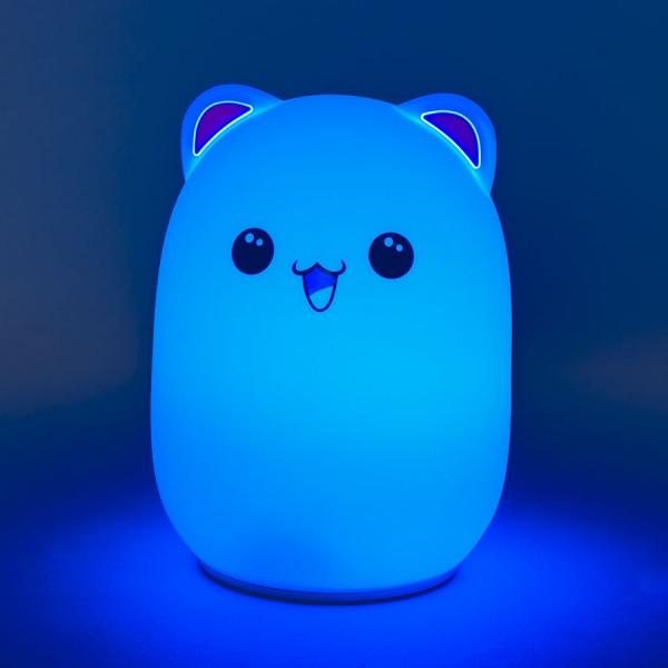 Мягкий силиконовый ночник Colorful Silicone Lamp, Голубой Мишка