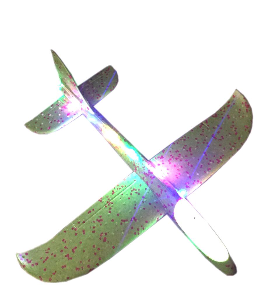 Самолет Планер 35 см LED подсветка, светодиодная лента в ассортименте