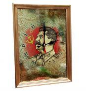 """Настенные часы """"И.В. СТАЛИН"""", вариант 2"""