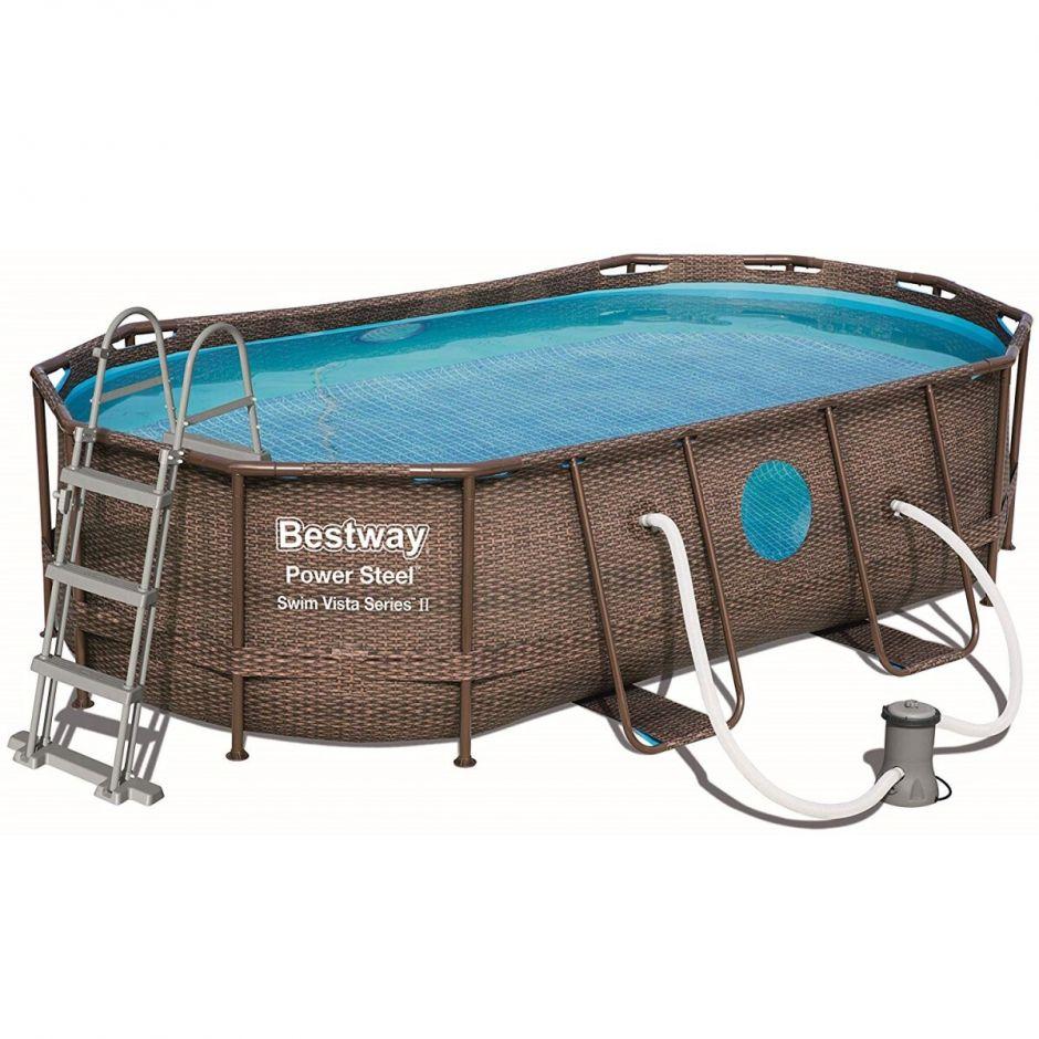 Каркасный бассейн Bestway Ротанг 56716 (549х274х122) с картриджным фильтром