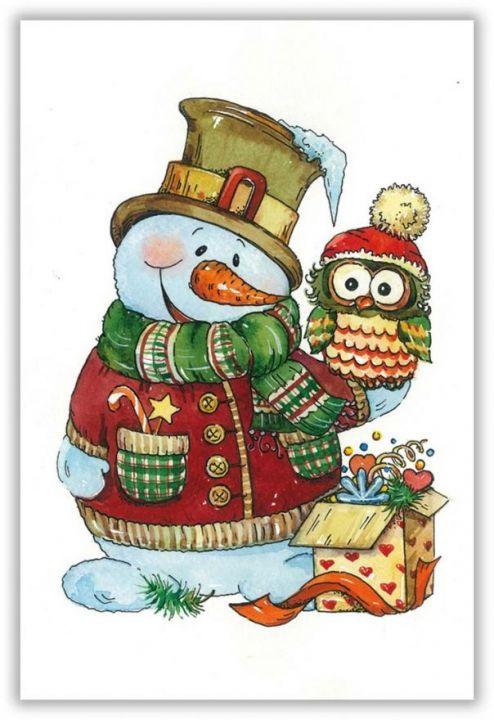 Снеговик с совой
