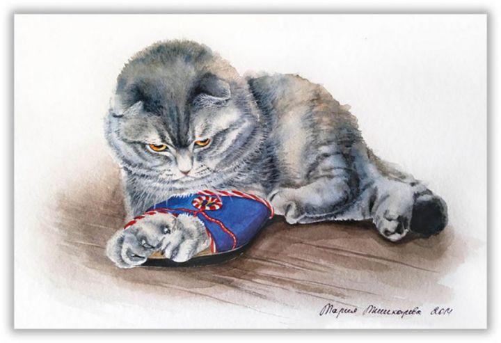 Cat&slippers