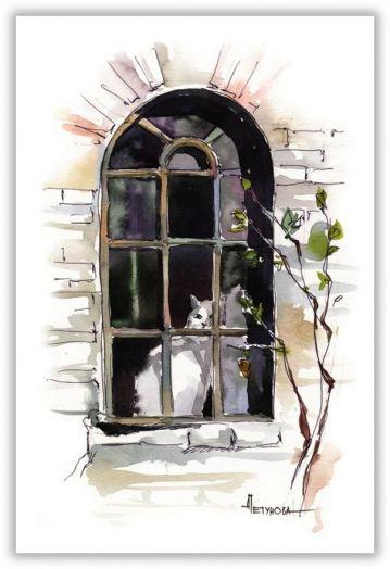 За окном