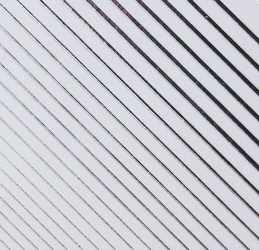 3D металлические наклейки полосы СЕРЕБРО