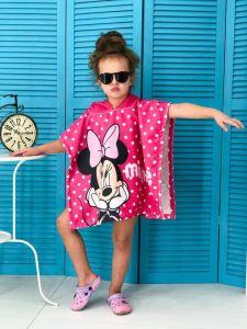 Детское пляжное полотенце-пончо с капюшоном арт. 537720