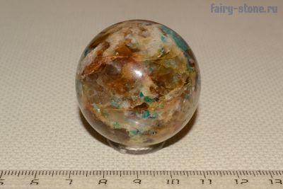 Шар из камня кварц c амазонитом (40мм)
