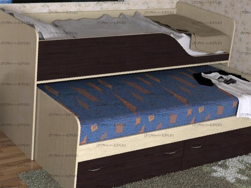 Кровать двухъярусная выкатная Дуэт-2