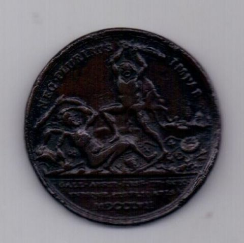 медаль 1757 года Война Пруссии с Россией