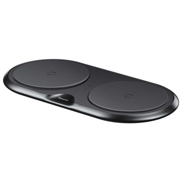 Беспроводная зарядка на два устройства Baseus Dual Wireless Charger пластиковая черная (WXSJK-01)