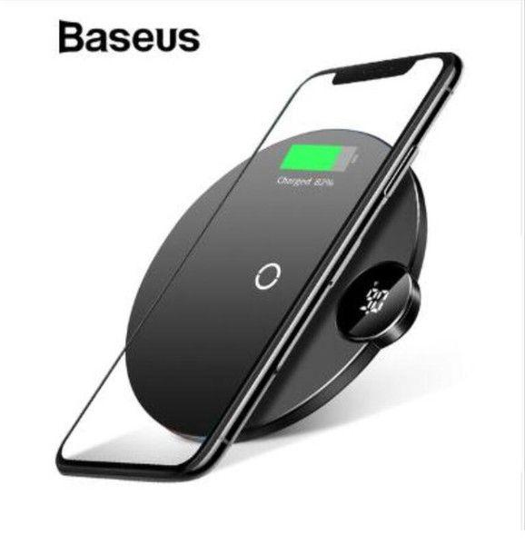 Беспроводная ЗУ с дисплеем Baseus Digtal LED Display Wireless Charger Черная (WXSX-01)
