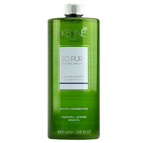 Keune So Pure Шампунь Успокаивающий Calming Shampoo, 1000 мл.