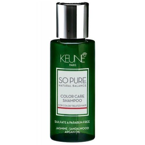 Keune So Pure Шампунь Забота о цвете Color Care Shampoo, 50 мл.