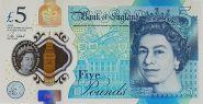"""Великобритания - 5 фунтов 2015 (2016 год), """"Черчиль"""" - полимер пластик UNC"""