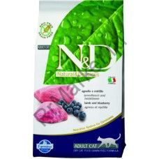 N&D Cat Lamb & Blueberry Adult-ЯГНЕНОК С ЧЕРНИКОЙ ДЛЯ ВЗРОСЛЫХ КОТОВ И КОШЕК