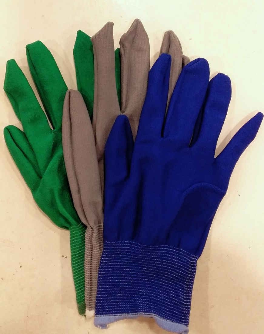 Перчатки тонкие цветные