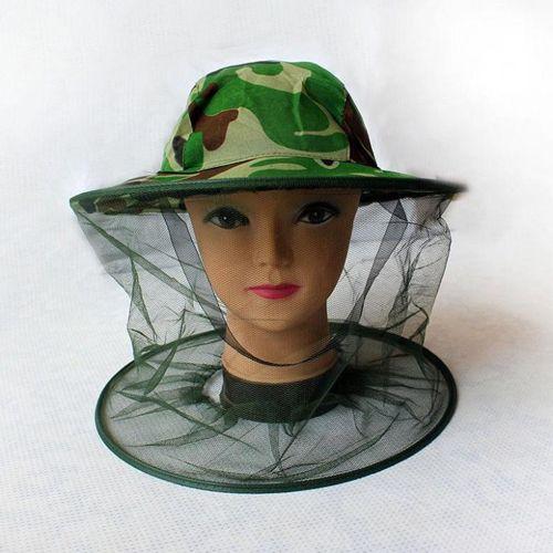 Антимоскитная камуфляжная шляпа.