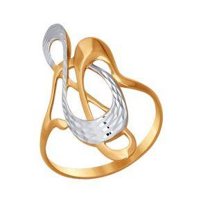 Кольцо из золота с алмазной гранью 011613 SOKOLOV