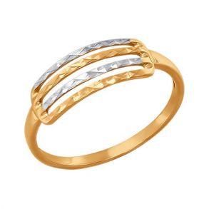 Кольцо из золота с алмазной гранью 015371 SOKOLOV